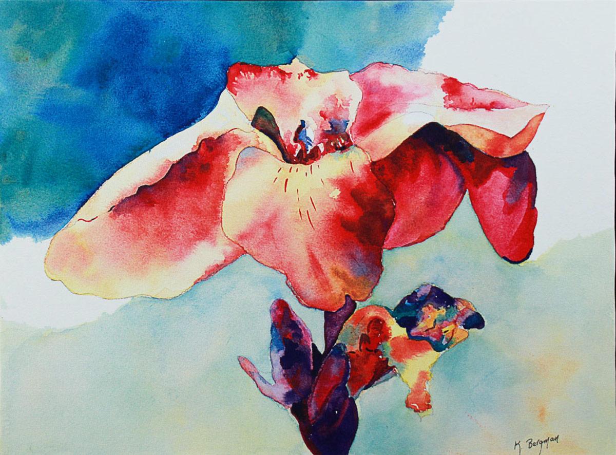 floral painting by teyjah
