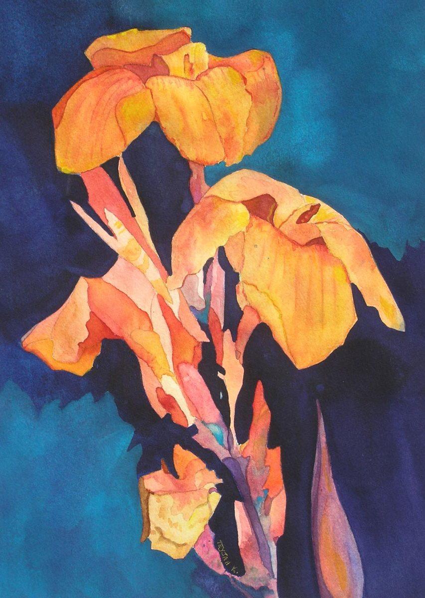 Japanese Irises by Teyjah